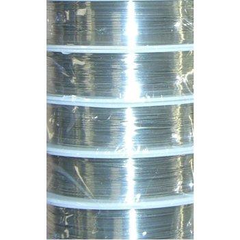 Проволока медная 0.3мм, 21 метр серебро