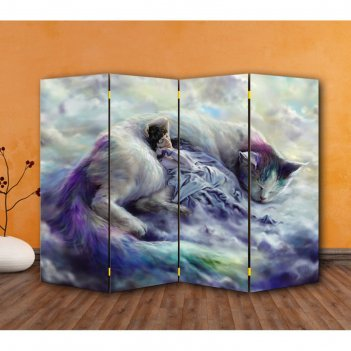 Ширма тёплы кот, 200 x 160 см