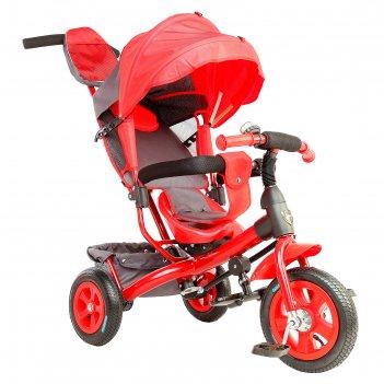 Велосипед трехколесный лучик vivat 1, надувные колеса 10/8, цвет красный