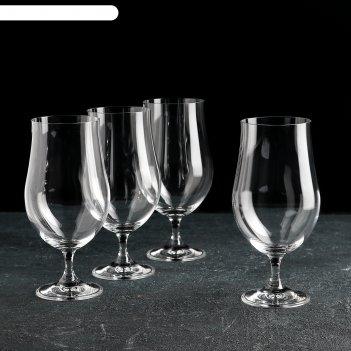Набор бокалов для пива 380 мл бар, 4 шт