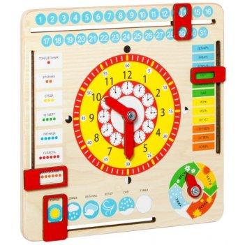 Игрушка развивающая часы и календарь