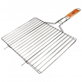 Решетка гриль для мяса малая, нерж.сталь, размер 300*225