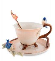 Fm-80/ 2 чайная пара голубые птицы (pavone)