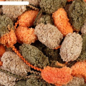 Пряжа фантазийная 100% полиэстер softino бобби 150 гр 30 м меланж оранжево