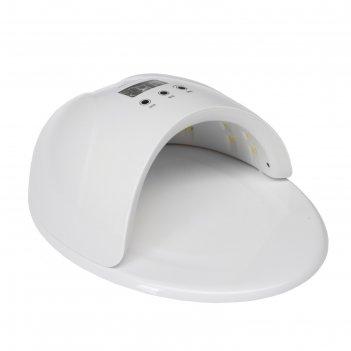 Лампа для гель-лака tnl, led, 50 вт, таймер 30/60/99 сек, белая