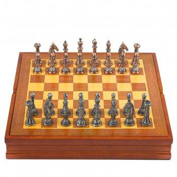 Шахматы сувенирные, h короля=7.8 см, пешки=5.4 см. d=2 см, 36х36 см