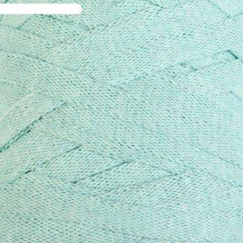 Пряжа-шнур ribbon 40% полиэстер, 60% хлопок 125м/250гр (775 мята)