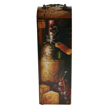 Шкатулка сундучок под бутылку 11*11*33см