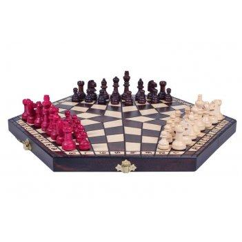 Шахматы на троих средние 35х35см