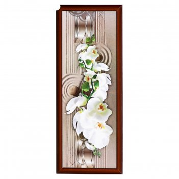 Картина цветущая орхидея 42*106 см