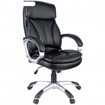 Кресло руководителя helmi hl-e07 invest, экокожа черная, механизм качания