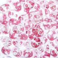 Бисер gamma 2,5х5мм (т114 прозрачный/розовый)
