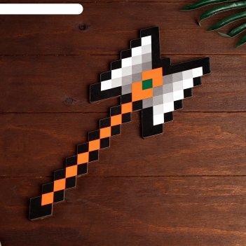 Сувенир деревянный топор гладиатора пиксель, 37 см