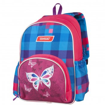 Рюкзак школьный target 35*28*12 дев. бабочка, розовый