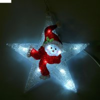 Фигура акрил. снеговик-звезда 30х30см, 10 led, 240v, контроллер 8 режимов,