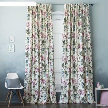 Комплект штор «дея», размер 170 x 270 см-2 шт, цвет розовый