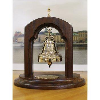 Колокольчик на подставке лик христа спасителя и животворящий крест