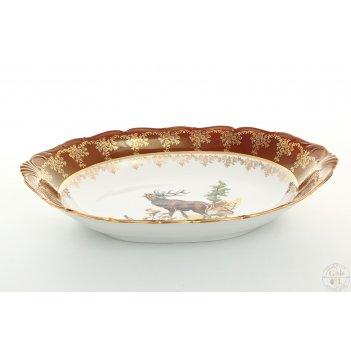 Блюдо для хлеба queens crown охота красная 34 см