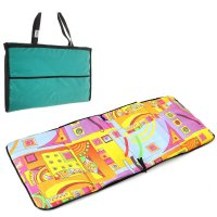 Коврик-сумка для фитнеса, пляжа, йоги (складной) цвета микс 135*53