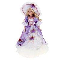 Кукла коллекционная барышня жизель в сиреневом