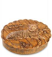 Bst-106/ 5 шкатулка тигр (береста)