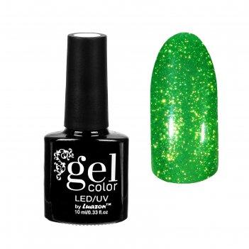 Гель-лак для ногтей горный хрусталь, трёхфазный led/uv, 10мл, цвет 007 зел