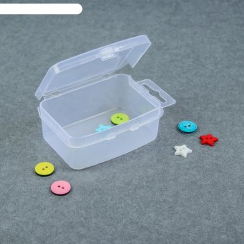 Контейнер для хранения мелочей, 9 x 5,5 x 3 см, цвет прозрачный