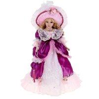 Кукла коллекционная барышня людмила в фиолетовом