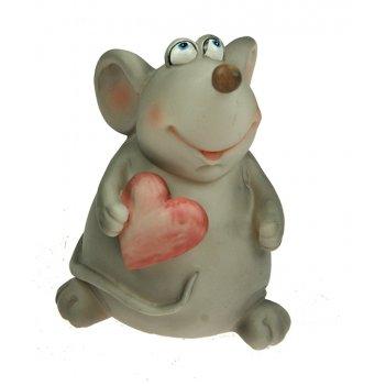 Фигурка декоративная мышка 9*10*12см (уп.1/36шт.)