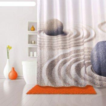 Штора для ванной комнаты 180х200 см sandy