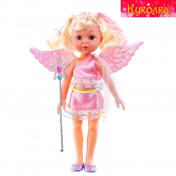 Кукла ангелочек в платье, с крыльями, цвета микс