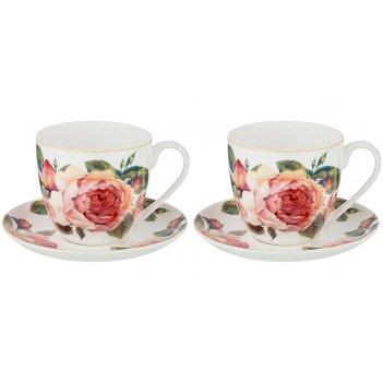 Набор чайных пар на 2 персоны винтаж 430мл