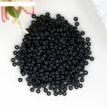 Бисер чехия gamma круглый 3 10/0 2.3 мм, 50гр (c632mat чёрный матовый)