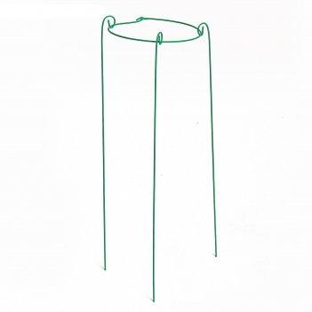 Кустодержатель, d = 20 см, h = 70 см, ножка d = 0.3 см, металл, зелёный
