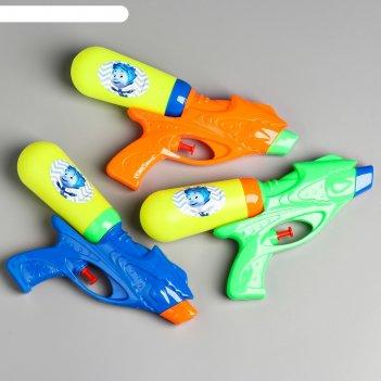 Водный пистолет фиксики водная фикси пулялка, цвет микс  sl-03541