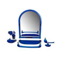 Набор для ванной комнаты вива данти, синий полупрозрачный