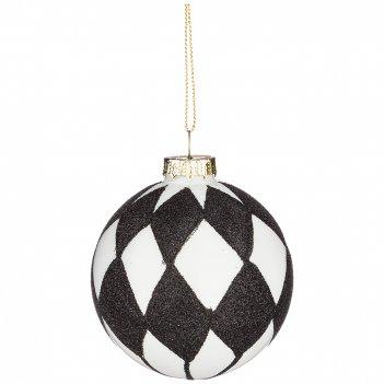 Декоративное изделие шар антураж диаметр=8 см (мал-12 шт./кор=96 шт.)