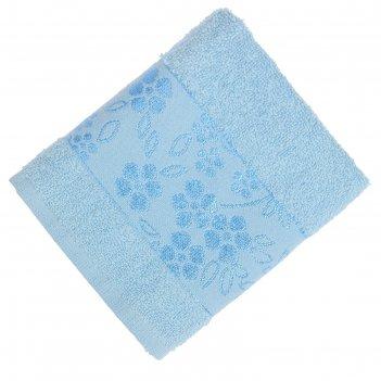 Полотенце махровое банное fiesta elara, размер 70х130 см, цвет голубой, 40