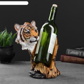 Подставка под бутылку тигр акрил, 17х22х24,5см