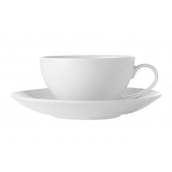 Чашка с блюдцем белая коллекция без инд.упаковки