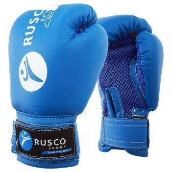 Перчатки боксерские rusco sport детские кож.зам. 4 oz синие