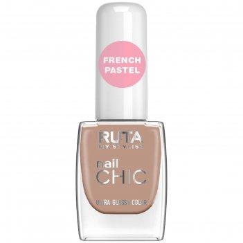 Лак для ногтей ruta nail chic, тон 83, какао с молоком