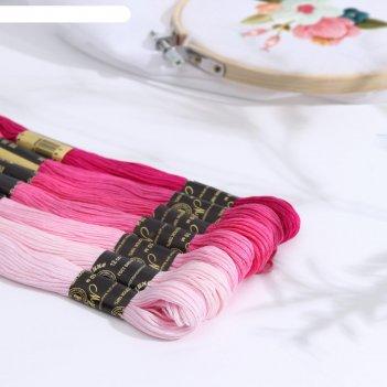 Набор ниток мулине «цветик-семицветик», 10 ± 1 м, 7 шт, цвет микс