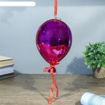 Ночник воздушный шар малиновый от бат в компл 13х13х19 см