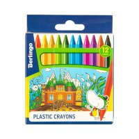 Мелки пластиковые 12цв berlingo волшебный дворец, шестигран, картон/уп, ев