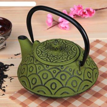 Чайник с ситом 800 мл джана, цвет зеленый