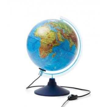 Глобус земли физико-политический интерактивный, с подсветкой, d-250 мм