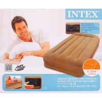 Кровать надувная pillow resе mid twin с подголовником 99х191х38 см, насос