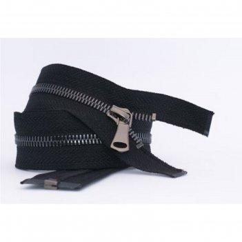 Молния для одежды, №8ст, разъемная, 45 см, цвет чёрный