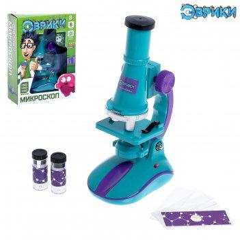 Микроскоп детский с набором для исследований, световые эффекты, работает о